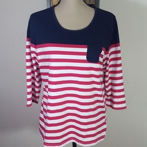 CORAL BAY STRIPED TOP💥